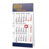 3-Monats-Tischkalender (mit Abriss)