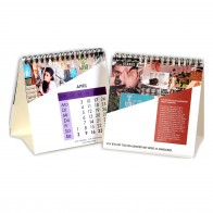 Tischkalender mit Wire-O-Bindung