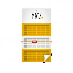 3-Monats-Wandkalender (farbiges Kalendarium) MY MATZ