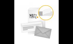 Briefumschläge ohne Fenster (haftklebend) MY MATZ