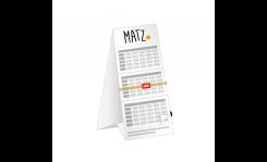 3-Monats-Tischkalender (mit Abriss) MY MATZ