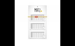 Mehrblock-Wandkalender (mit Abriss) - MY MATZ