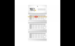 Mehrblock-Wandkalender (mit Wire-O) - MY MATZ