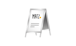 Kundenstopper MY MATZ