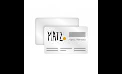 Plastikkarten mit Personalisierung MY MATZ