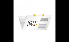 Selfmailer mit Verschlussetiketten (Altarfalz) MY MATZ