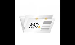 Selfmailer mit Verschlussetiketten (Doppelparallelfalz) MY MATZ