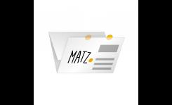 Selfmailer mit Verschlussetiketten (Wickelfalz) MY MATZ